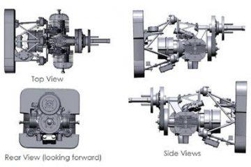 Bộ lắp ráp động cơ Sierra UAV được thiết kế ngược bằng Geomagic Design X